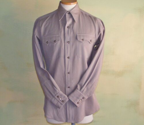 40s 50s Pacific Mills Western Shirt Gabardine West