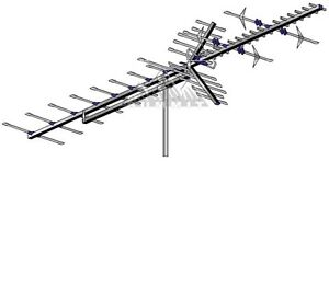 AntennaCraft HBU55 High Band UHF VHF HDTV Antenna Terrestrial Digital HD 50' RG6