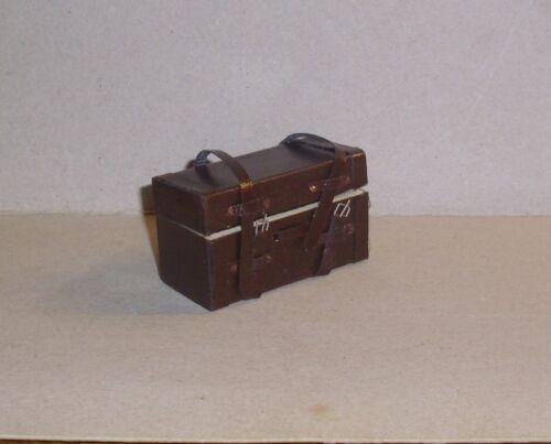 Brauner maletín de cuero//viaje maleta-miniatura 1:12 casa de muñecas