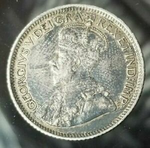 1915-Canada-10-Cents-Silver-Coin-Beautiful-Grade