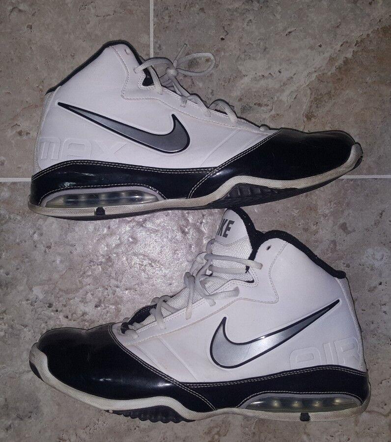 Nike air max la tendenza 386237-101 maschile di basket bianco nero 386237-101 tendenza scarpe taglia 12 d71531