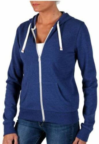 Abbot Main Womens Full Zip Fleece Hoodie Jacket Royal Blue