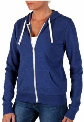 Abbot Main Womens Full Zip Fleece Hoodie Jacket Royal Blue