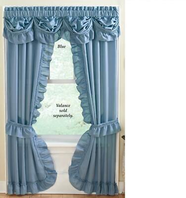 Ruffled Mayfield Priscilla Curtain, Blue Priscilla Curtains