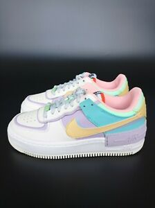 Details about Nike Air Force 1 Shadow Pastel Multi Ivory CI0919-101 Womens  Trainers All Sizes