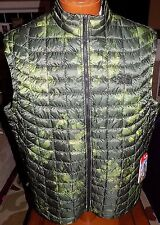 NWT MEN'S THE NORTH FACE THERMOBALL VEST GREEN CAMO $149 SIZE MEDIUM  PACKABLE