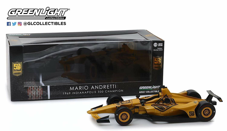1 18 Mario Andretti 50th Anniversaire Indianapolis 500 vertlight