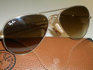 d66e38c09323 58  14 RAY-BAN RB3025 TOP BROWNISH GRADIENT UV AVIATOR MATTE-GOLD ...