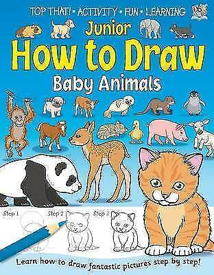 Junior How to Draw - Baby Animals by Kate Thompson, Acceptable Book (Paperback)