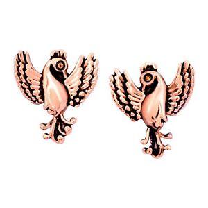 Chrysalis-Charmed-14K-Rose-Gold-Flashed-Brass-Phoenix-Stud-Earrings