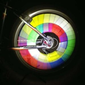 BRIGHT Bike REFLECTOR Lot SPOKE light SAFETY Rainbow CYCLE Tire Night Ride Race