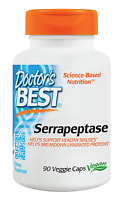 Serrapeptase (40,000 Units), 90 Veggie Caps, Digestive Tract,intestines,sinuses