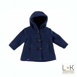Cappotto-in-Lana-Elegante-Blu-Bambina-Sarabanda-R267