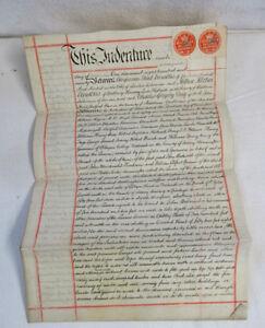 Painstaking Alte Urkunde Aus England 1890 Handschriften-manuskripte Assignment Mit Siegeln & Stempeln Relieving Rheumatism And Cold