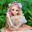 60cm-1-3-Model-BJD-Doll-18-Joints-Body-With-Shoes-Dress-Hat-Makeup-Bebe-Handmade thumbnail 2