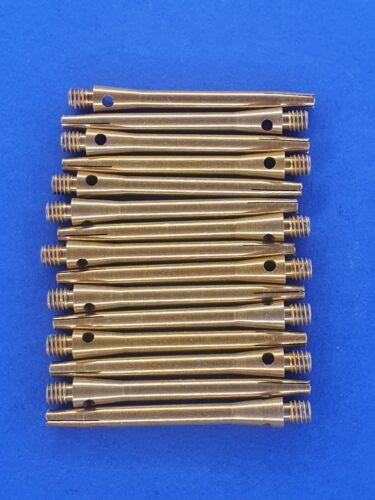 5 X Set Gold Aluminium Medium Dart Stems
