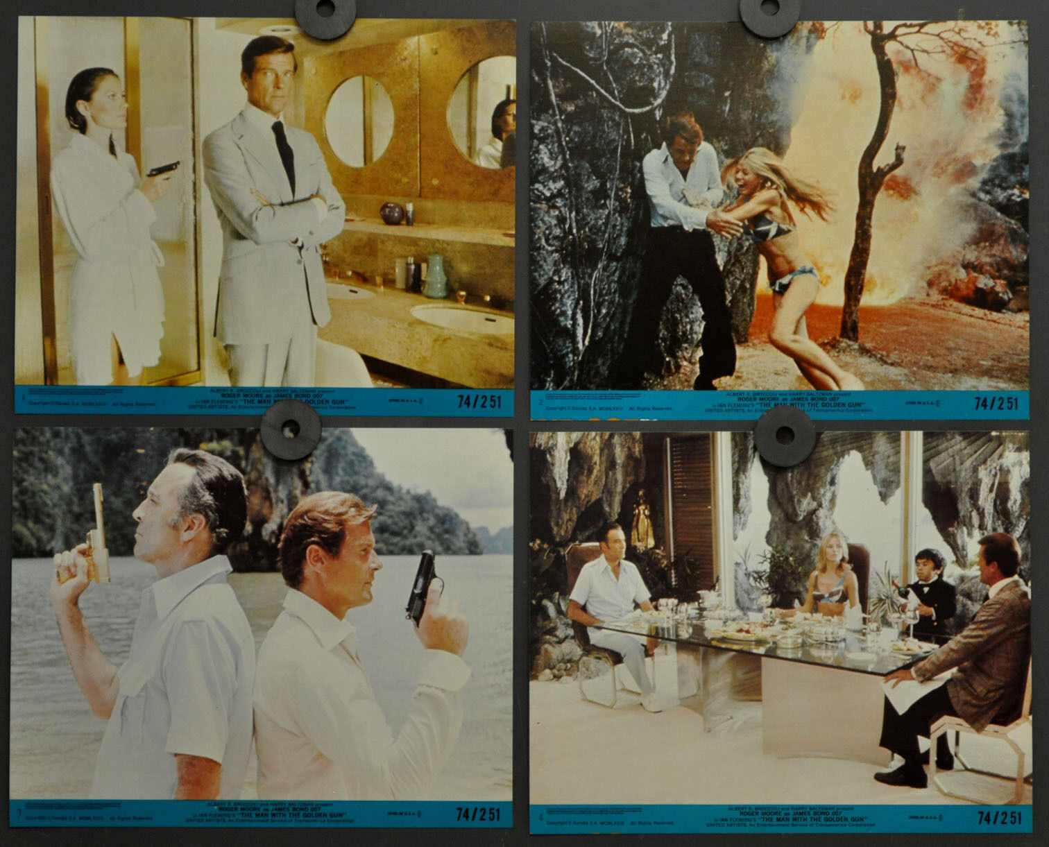 Man With The Golden Gun 1974 Original 8X10 Mint Lobby Karte Set Roger Moore  | Wir haben von unseren Kunden Lob erhalten.