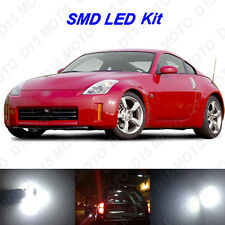 7 x White LED Interior Bulbs + License Plate Lights for 2003-2009 Nissan 350Z