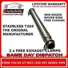Ford Focus ST 250 y Mk3 Tubo delantero Silenciador De Repuesto eliminar de resolución Pipe