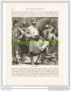 GREEK-BRIGANDS-GREECE-Book-Illustration-c1890