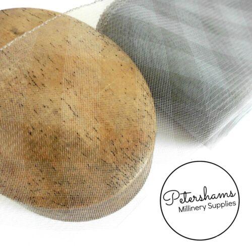 Checker Pattern 15cm Wide Crinoline for Millinery /& Fascinators 6 inch 1m