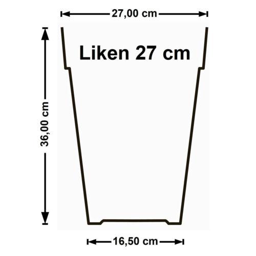 Blumentopf 27 cm rund in taupe für Drinnen und Draußen Übertopf Blumenkübel