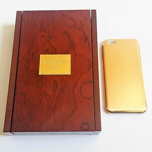 the latest bfec6 7a091 Details about Diamond Cover Munich 24 Karat gold phone cover for iPhone 6  6s Gold Case New!!