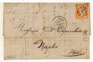 A3056-FRANCE-1875-Prestamped-Letter-Lyon-Naples