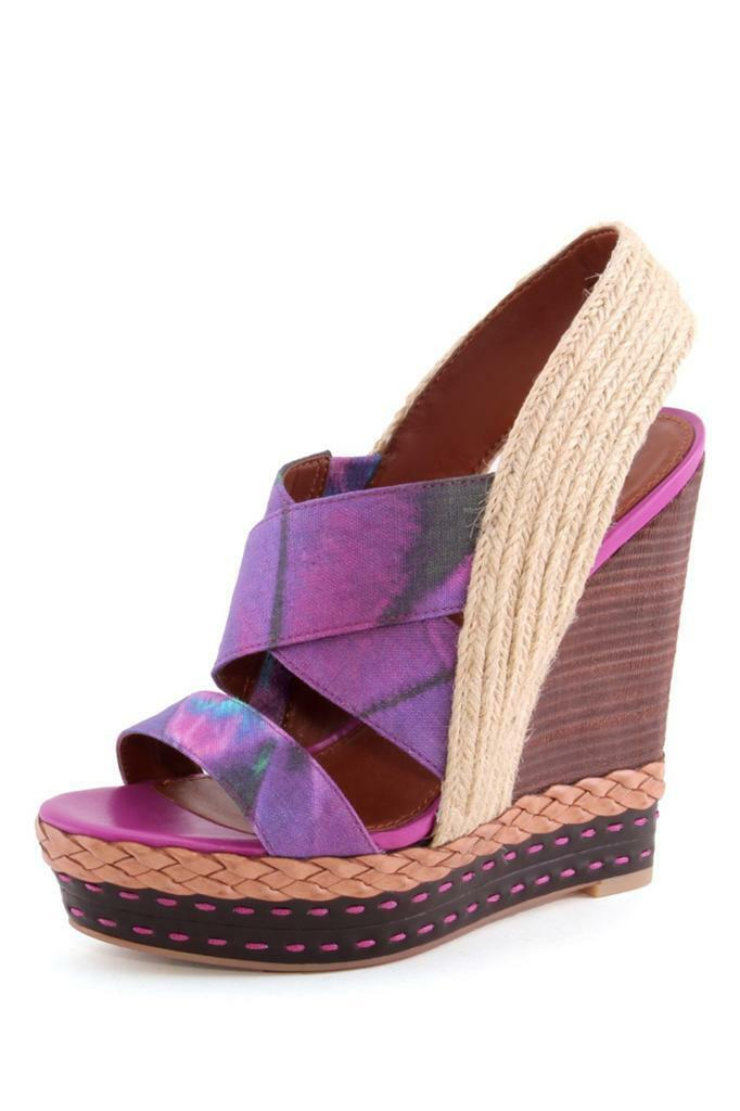 Boutique 9 Isabella Wedge Wedge Wedge lila Multi Sandal Platform Open-toe strappy Slip on 049f5b