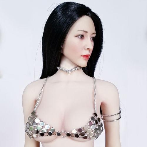 "HOT 1:6th Scale Silver Metal Bikini Bottom Set For 12/"" PH JO Female Body Doll"