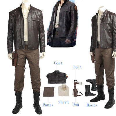 Star Wars The Last Jedi Poe Dameron Cosplay Costume Full Suit Any Size Halloween