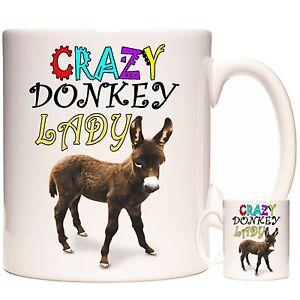 Crazy-DONKEY-Lady-Ceramic-Novelty-Gift-Mug-Can-be-personalised-Dishwasher-safe