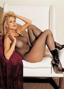 Black-Halter-Tie-Fishnet-Body-Stocking-Open-Crotch-One-Size-Shirley-90025