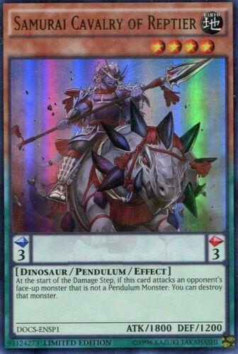 Limited Edition x3 Near Samurai Cavalry of Reptier Ultra Rare DOCS-ENSP1