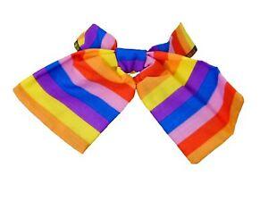 Multi-Colored-Rainbow-Taglia-Unica-Velco-Cravatta-Gay-Pride-UK