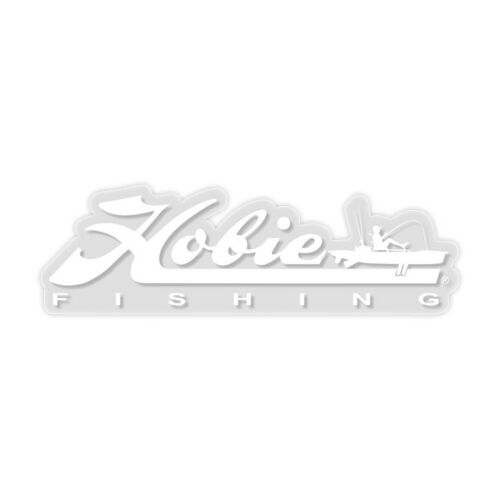"""White 12"""" Hobie Decal 12453025 """"Hobie Fishing"""""""