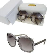 Authentic CHLOE Logos Sunglasses Eye Wear Plastic Gray France With Case 08Q706