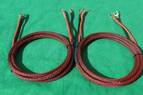 2 to 2 Spades 30 Ft Elite Pure Copper BiWire Speaker Cable 1 Pair USA MADE.