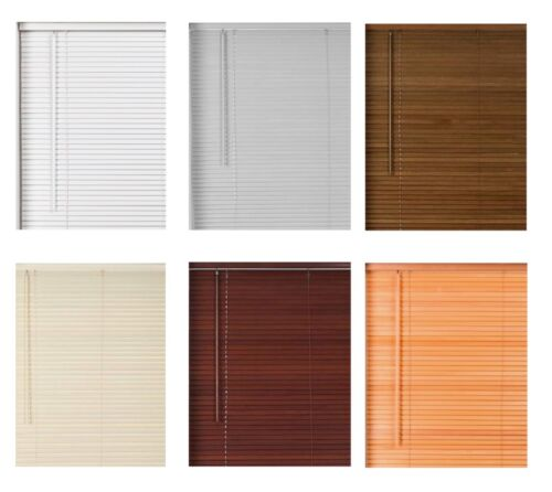 Real Hard Wood Wooden Venetian Blind 160cm ... with cords CLEARANCE 27mm Slat