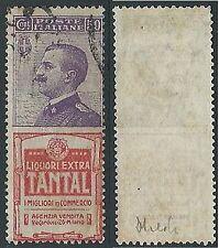 1924-25 REGNO USATO PUBBLICITARIO TANTAL 50 CENT - ED921-3