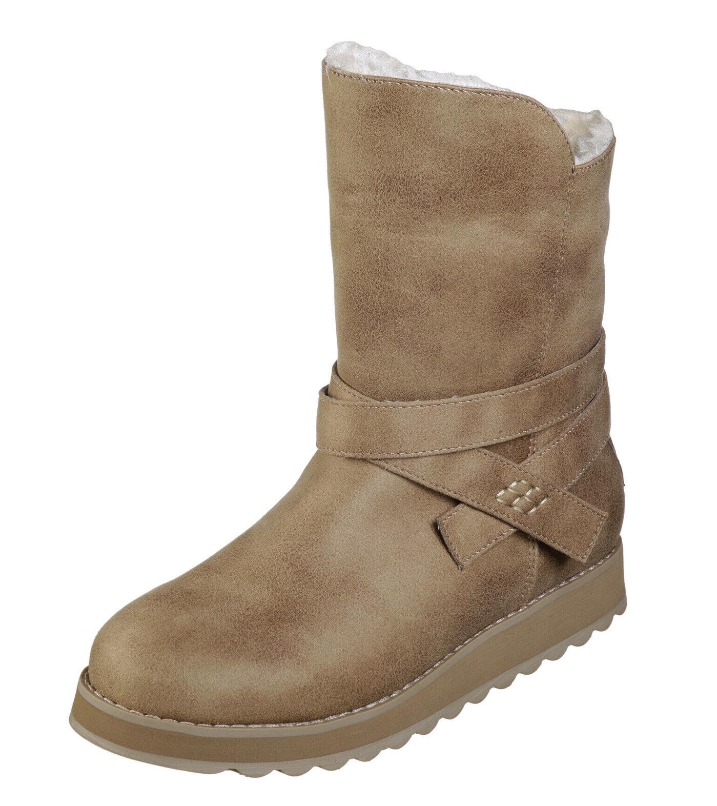 Skechers NEW Keepsakes 2.0 Pikes Peak taupe fashion ankle fur boots sizes 3-8