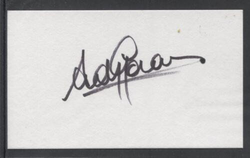 A 13cm x 7.5cm Plain White Card Signed by Andy Goram, Rangers, Elgin C. Scotland
