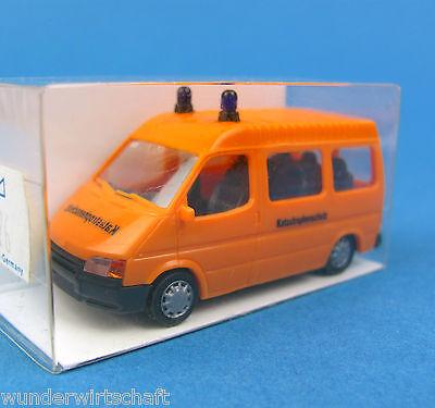 Rietze H0 50626 FORD TRANSIT Bus Katastrophenschutz THW Orange OVP HO 1:87 Box