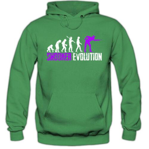 Billards Evolution #1 Hoodie Billard billiardprofis snookerprofi Messieurs kapuzenp