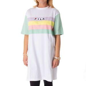 Vestito Fila Lunga Bianco Donna Maglietta 34257 Camicia Luminoso Lichene Jasmine likuTwOPXZ