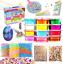 Schleim Set Kinder Spielzeug Schleim Selber Machen mit Farben C DIY Slime kit