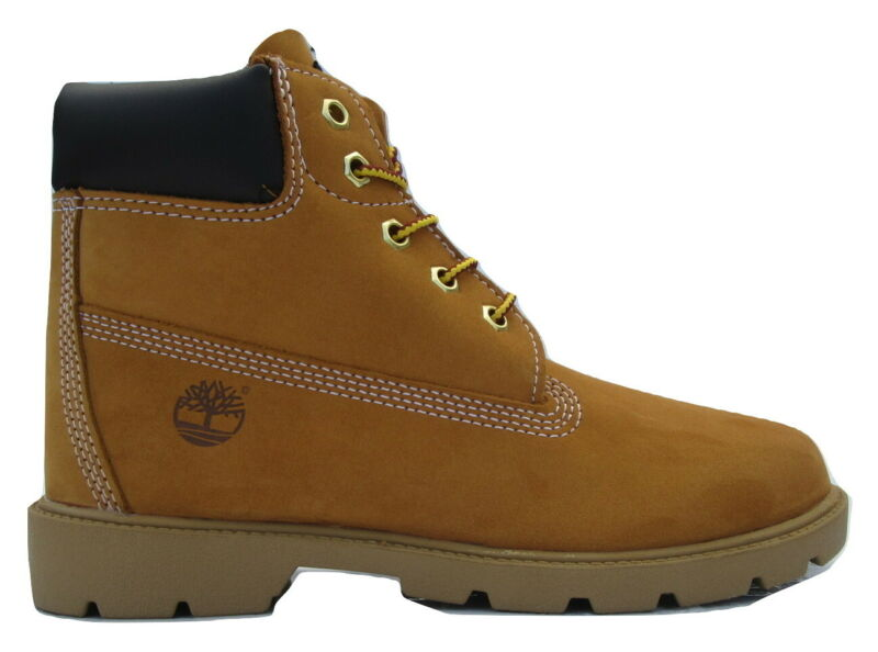 """Fein Junior Boys Girls Kids Timberland Wheat 6"""" 6 Inch Leather Boots Size Uk 2.5 35 Zu Hohes Ansehen Zu Hause Und Im Ausland GenießEn"""