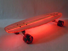 """Flexdex Clear29 LT Red Lighted Skateboard Light Up Clear 29"""" Length   2 Hours"""