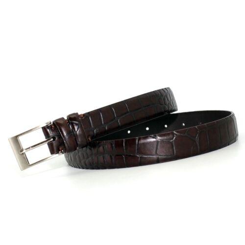Big /& Tall Marco LTD Mens Croco Embossed Genuine Leather Dress Belt 2901