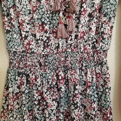 NWT KNOX ROSE Boho Cinched Waist Tassle Trim Dress Size XS